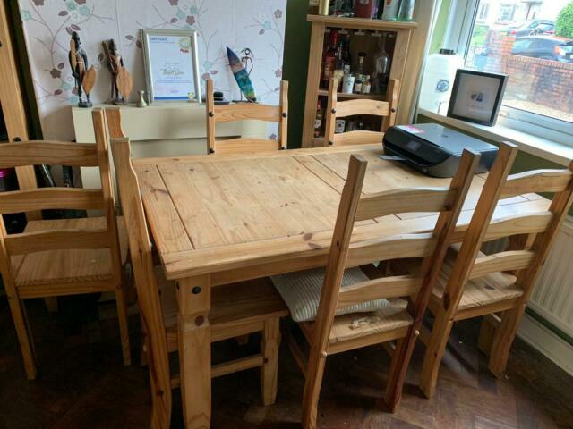 Magnificent Corona Dining Table And 6 Chairs In Swansea Gumtree Machost Co Dining Chair Design Ideas Machostcouk