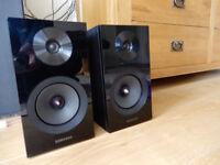 Samsung Speakers, Super BASS from bookshelf sized speakers