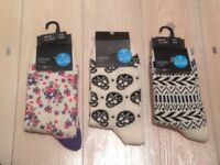 floralsocks floralprints floral flowers skullsocks neverworn aztec tribal skulls socks aztecsocks