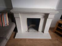 Marble hearth fireplace surround already dismantled and available to collect