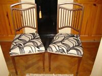 Edwardian pair bedroom/side chairs