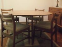 Teak Dining Table and Jentique chairs (1969) and Teak Sideboard (1973) - owned by me since new