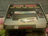 Atari 7800 boxed original two games
