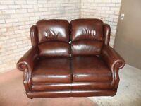 Leather brown Thomas Lloyd two seater sofa