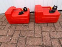 2 Yamaha 12litre petrol tanks for outboard motor. for sale  Swindon, Wiltshire