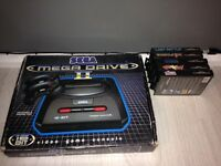 Boxed Sega mega drive 2 console and games bundle