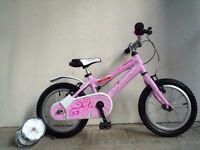 "(2115) 14"" Lightweight Aluminium RIDGEBACK Girls Bike Bicycle+ STABILISERS Age: 3-5 Height: 95-110cm"