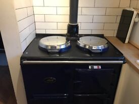 Restored gas AGA. Royal blue and all working