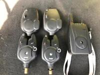 Fox mr plus alarms and receiver carp fishing