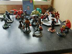 Disney Infinity figures, board and game