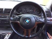 BMW e46 multifunction steering wheel
