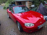 2004 Mazda MX5 Red 1.6 86k - make an offer!