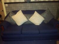 3 Seater Sofa with Matching Chairs