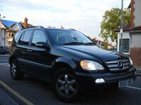 /// MERCEDES BENZ ML270 CDI INSPIRATION /// AUTOMATIC DIESEL /// 2003 PLATE /// SAT NAV /// 4X4 JEEP