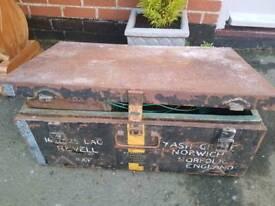 Vintage RAF metal chest