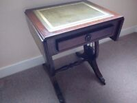 Lovely Small Drop Leaf Side Table (with drawer)