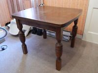 Vintage extending dining table and 5 chairs