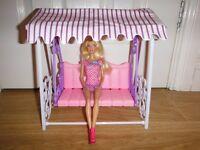 Doll Garden Swing Set Fits Barbie £5 O.N.O