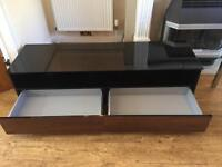 Black High Gloss & Walnut TV Unit