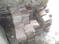 Reclaimed quarry tiles from 1900 house in Ceredigion