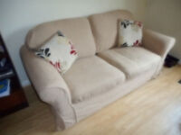 2-seater sofa bed with removable covers