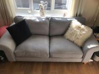 3 & 2 seater sofas plus footstool