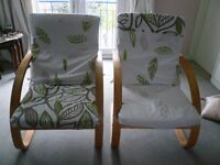 2 Poang Ikea adult's arm chairs