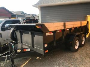7x14 Dump Trailer for Rent. Free Delivery