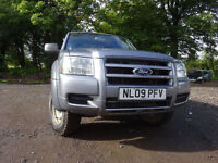 09 FORD RANGER S/C 4X4 2.5 DIESEL PICK UP TWIN CAB,MOT MARCH 018,PART HISTORY,ONLY 1 OWNER FROM NEW