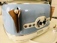*Brand New* Ariete Vintage 156 LB Toaster 4 slice Retro Light Blue