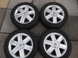 4 Renault Megane alloy wheels with good tyres 205/55/R16