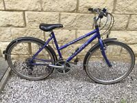 10 speed bike with bell water bottle holder, well maintained includes chain lock, tire pump, spanner