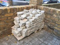 Paving stones - Silver grey granite setts 10cm x 10cm