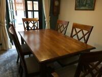 Julian Bowen Oak table and chairs
