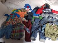 Black Bag Of Baby Boys Clothes, 6/9 & 8/12 Months. All Name Brands Or Designer. Some New. £40.