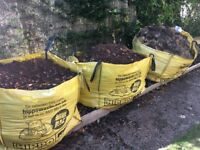 Grass and soil free to collector. 3 large bags- can collect some or all.