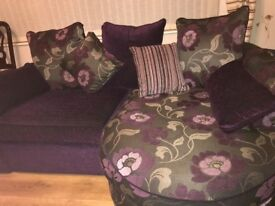 Two seater lounger sofa