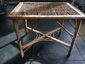 Lovely Vintage Cane Side Table
