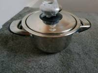 1 QUALITY x AMC Luxury Stainless steel Saucepan Cookware pot NEW PART of 14 piece set worth £1500