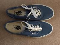 Men's mid blue Vans size 8