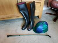 Riding Hat and Boots Set