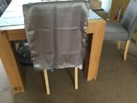 Two Satin silver pashminas brand new in packaging