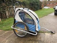 Bicycle trailer / stroller for 2 children