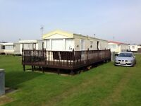 For Hire/Rent/To Let 8 Berth 3 Bedroomed Caravan at Chapel St Leonards Skegness (not Ingoldmells)