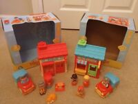 2 x ELC Happyland Play Sets- Post Office & Tommy's Toy Shop both with box and accessories