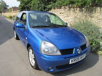 RENAULT CLIO 1.2 16V 3 DOOR 2005 FULL HISTORY LONG MOT IDEAL FIRST CAR