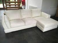 John Lewis leather corner sofa