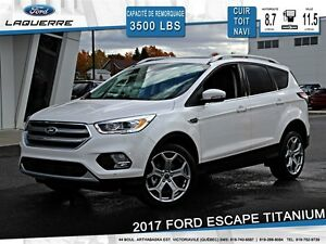2017 Ford Escape **TITANIUM*4X4*CUIR*CAMERA*NAVI*CRUISE*A/C 2 ZO