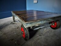 JUMBO G Presents (THE YOUNG PRETENDER) Trolley Coffee Table