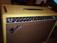 Fender Twin - 90's Amp in Tweed Finish, c/w footswitch